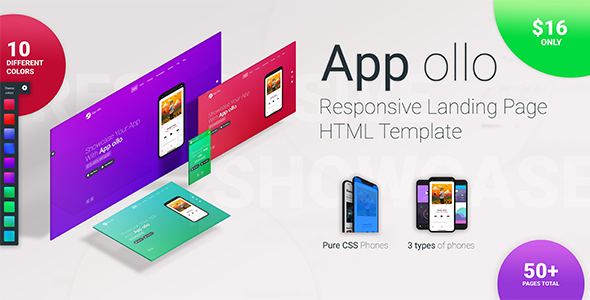 Image of App ollo - App landing page HTML template