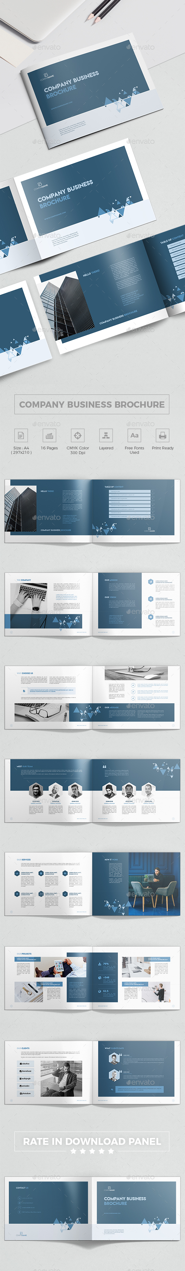 Company Business Landscape Brochure - Corporate Brochures
