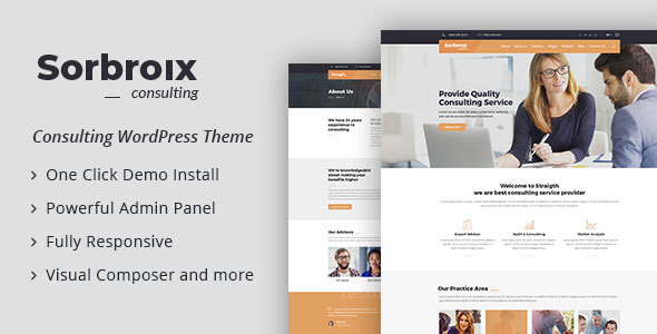 Image of Sorbroix : Business Consulting WordPress Theme