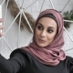 Young Beautiful Indian Girl in Hijab, Smiling, Doing Selfie, Talking in Video Chat, Portrait Concept