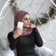 Young Beautiful Indian Girl in Hijab, Doing Selfie, Portrait Concept, Photo 50 Fps