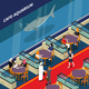 Cafe Aquarium Isometric Composition