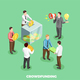 Crowdfunding Isometric Composition