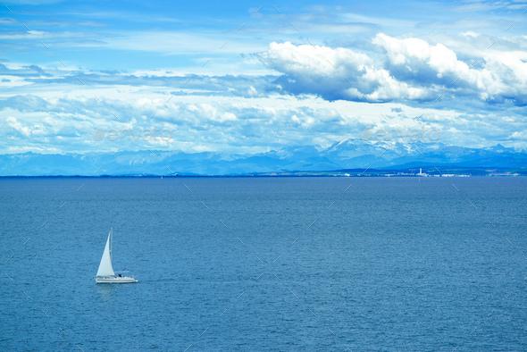 Sailing boat at sea - Stock Photo - Images