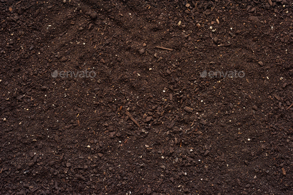 Agricultural soil texture top view - Stock Photo - Images
