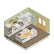 Kitchen Isometric Composition