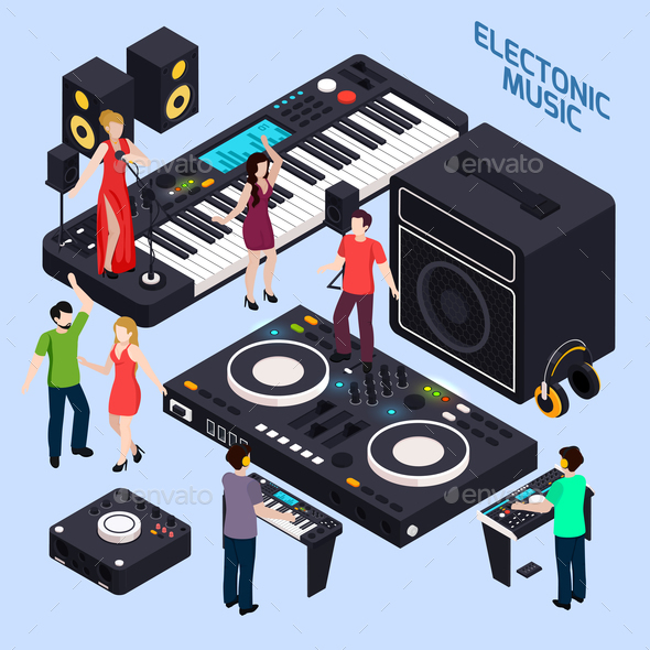 Electronic Dance Music Composition - Miscellaneous Vectors