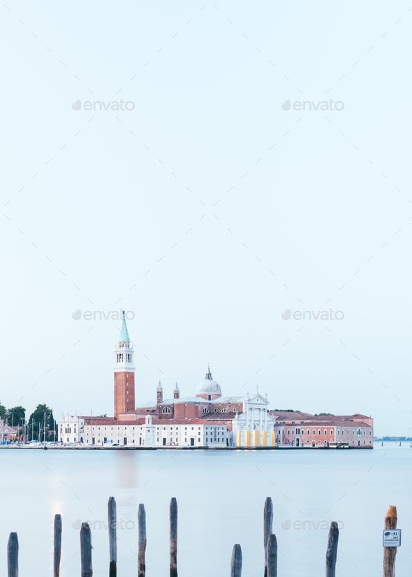 Venice, Italy. The island of San Giorgio Maggiore - Stock Photo - Images