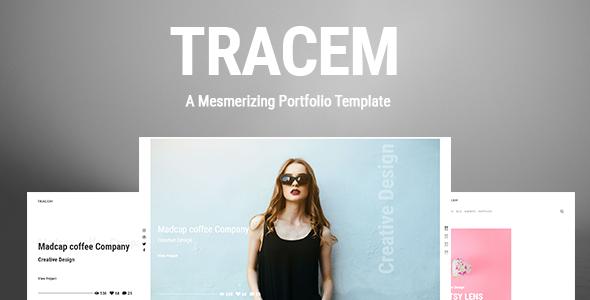 Image of Tracem - A Mesmerizing Portfolio Template