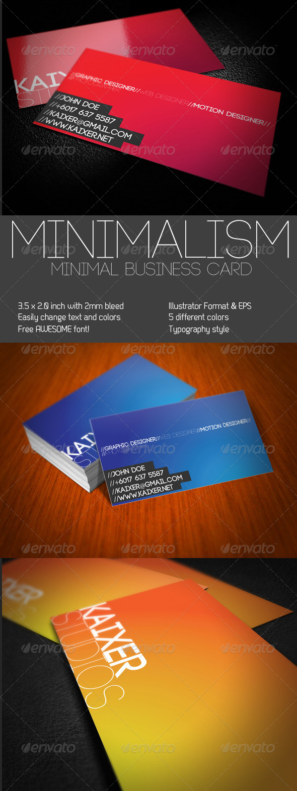 Minimal Style Business Card - Corporate Business Cards
