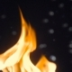 Large Flame of Fire through Water Bubbles with a High Frame Rate - VideoHive Item for Sale