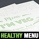 Healthy Food Menu Template - GraphicRiver Item for Sale