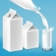 Vector Milk Packaging Set