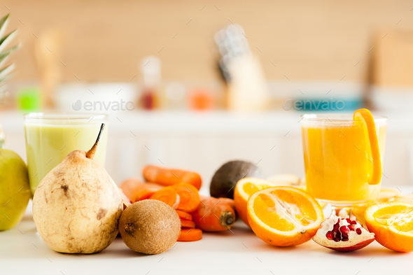 Healthy and delicious organic juice - Stock Photo - Images