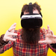Long bearded hipster man wearing a virtual reality VR headset an - PhotoDune Item for Sale