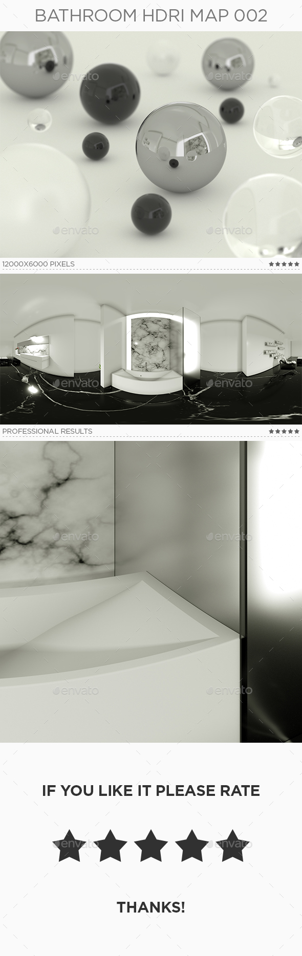 Bathroom HDRi Map 002 - 3DOcean Item for Sale