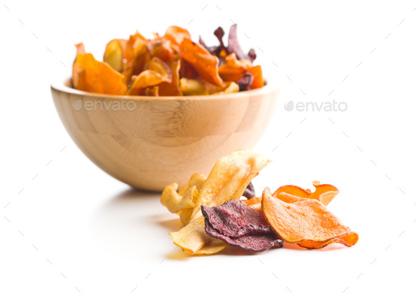 Mixed fried vegetable chips - Stock Photo - Images