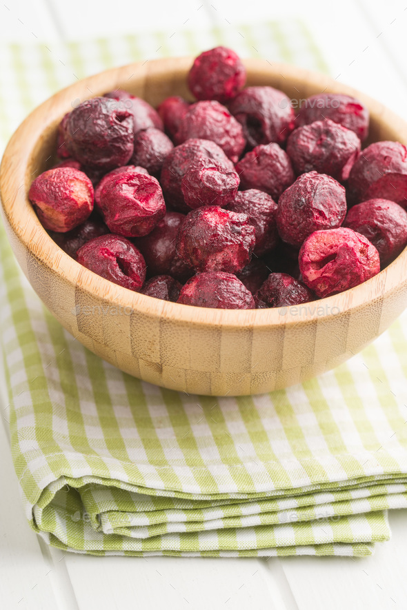 Freeze dried cherries. - Stock Photo - Images