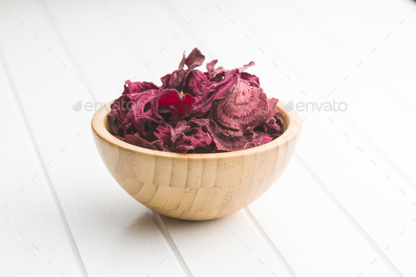 Dried beetroot chips. - Stock Photo - Images