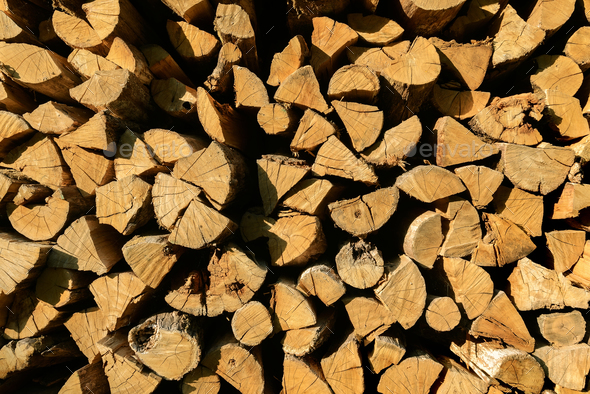 Background of firewood - Stock Photo - Images