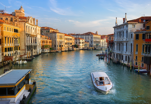Grand Canal at dawn - Stock Photo - Images
