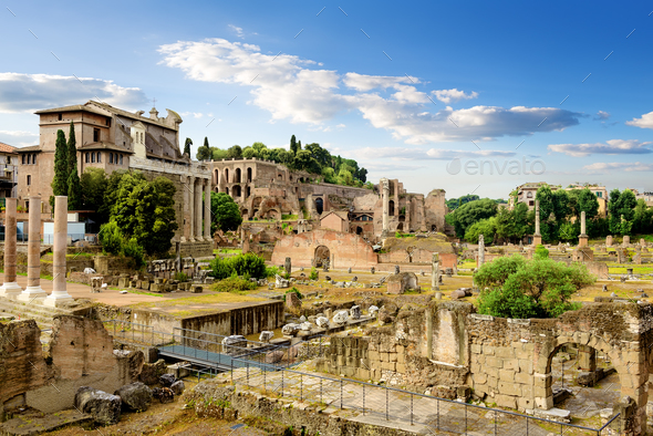 Ruins of Rome - Stock Photo - Images