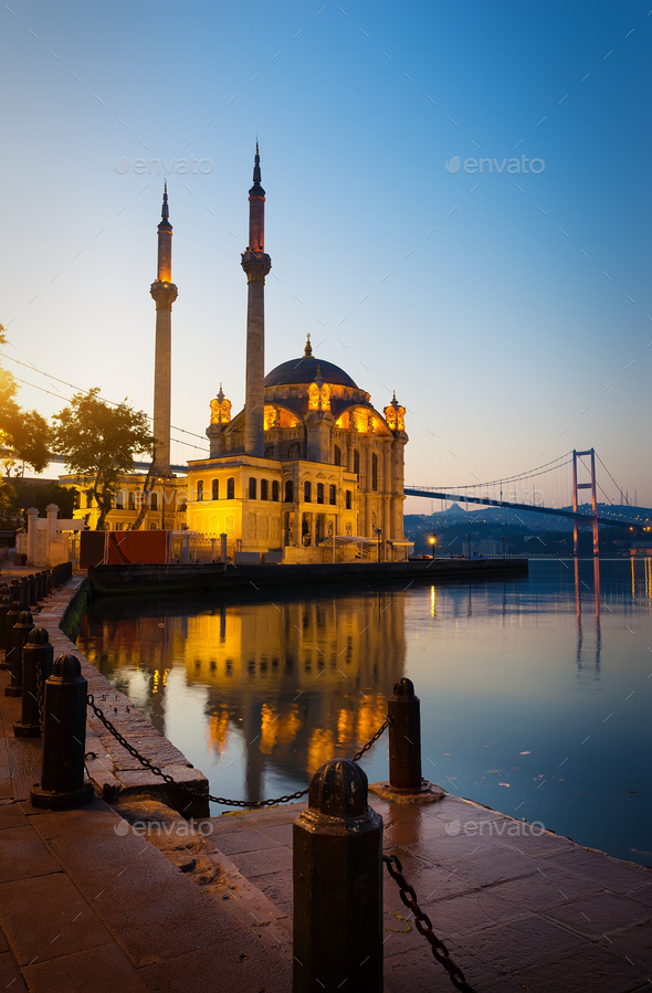 Sunrise over Ortakoy Mosque - Stock Photo - Images