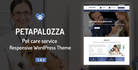 Petapalozza – Pet Care Service WordPress Theme
