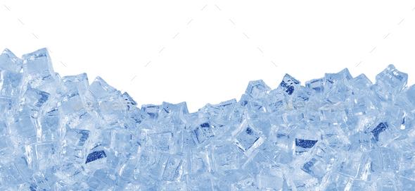 Ice cubes on white - Stock Photo - Images