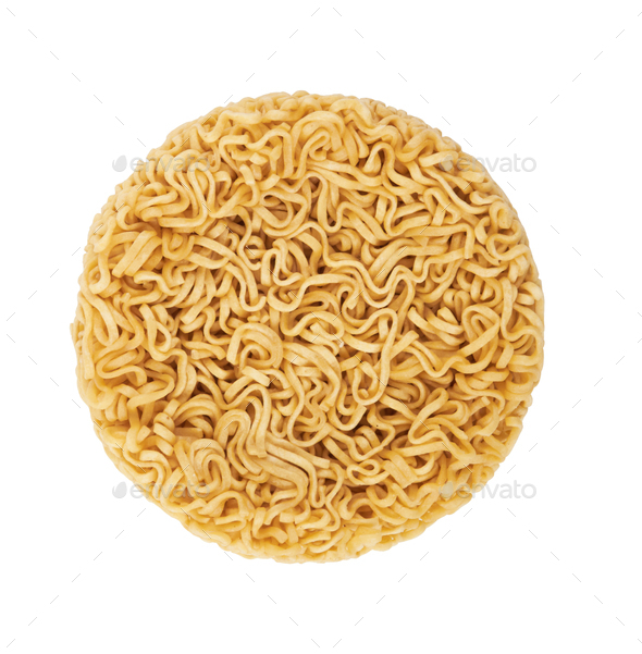instant noodles on a white background - Stock Photo - Images