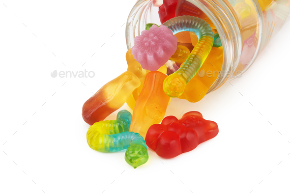 neon gummy candies - Stock Photo - Images
