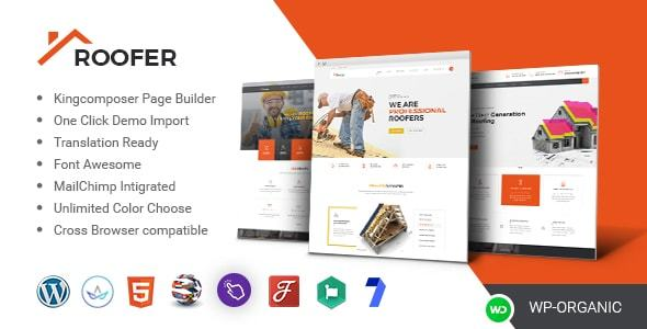Image of Roof Build - Roofing Service and Construction WordPress Theme