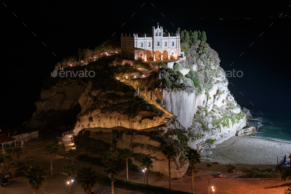 Sanctuary of Santa Maria Island in Tropea - Stock Photo - Images
