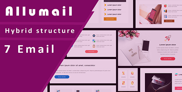 Image of Allumail 7 Responsive Email Template set + Stampready Builder with Email On Acid test result