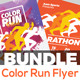 Color Run Festival/Marathon Event Flyer Bundle