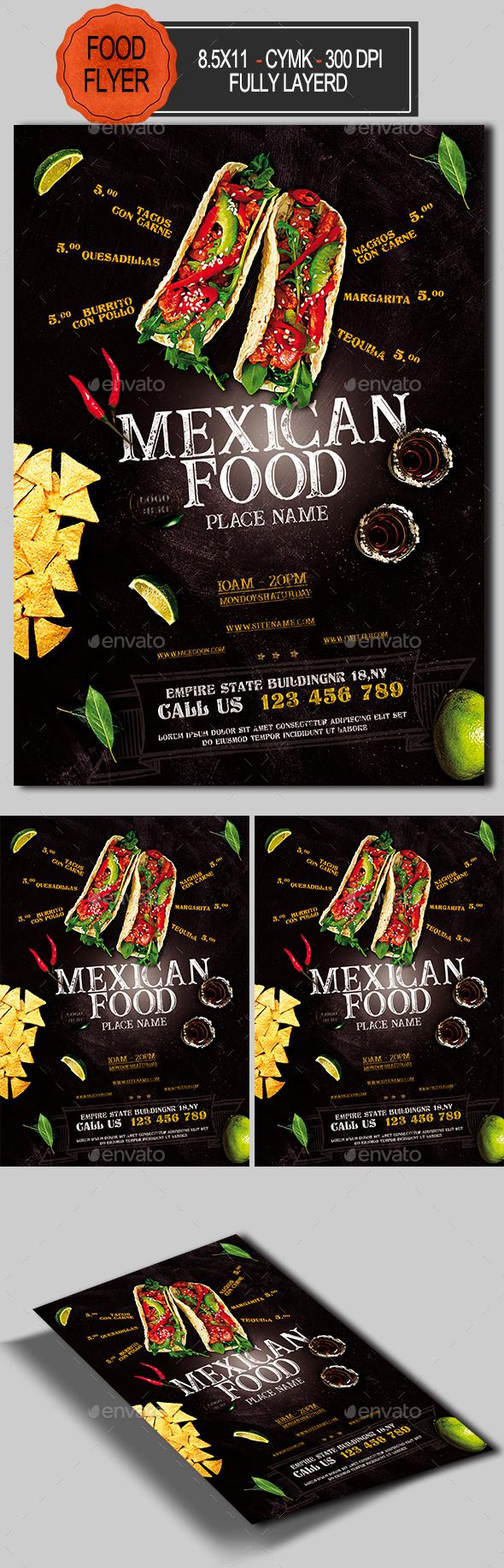 Mexican Food Flyer - Restaurant Flyers