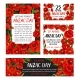 Anzac Day Poppy Flower Memorial Card Design