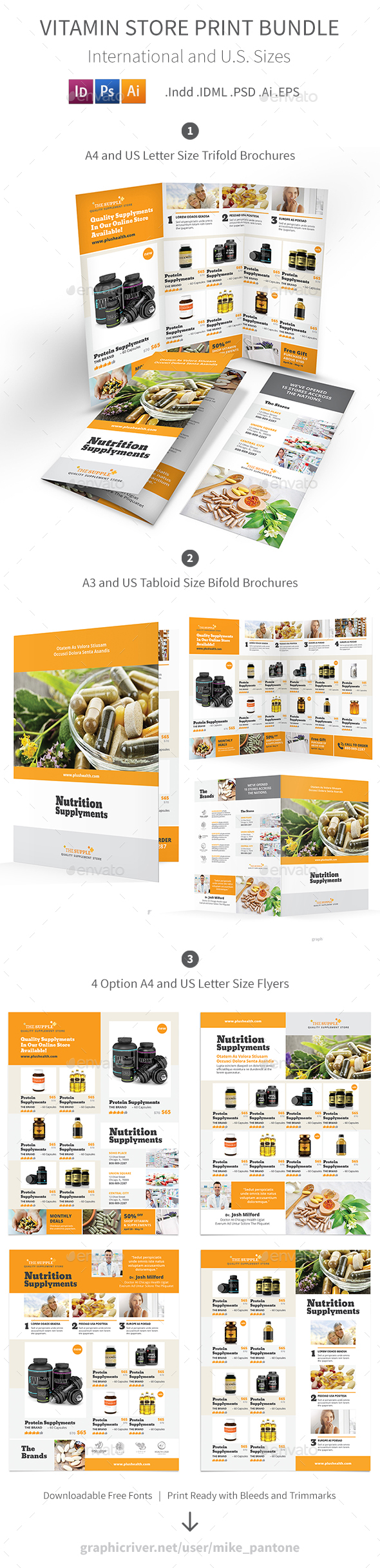 Vitamin Store Print Bundle - Informational Brochures