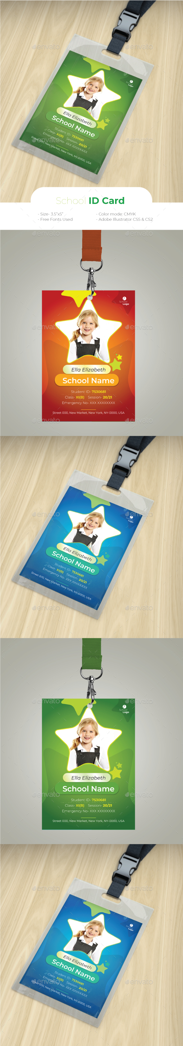 School ID Card - Miscellaneous Print Templates
