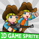 Cowgirl Cartoon 2D Game Character Sprite - GraphicRiver Item for Sale