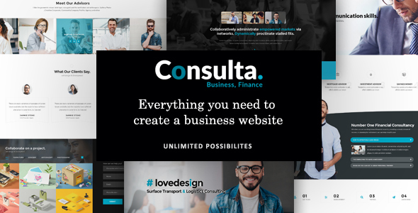 Consulta - Professional Business & Financial WordPress Theme