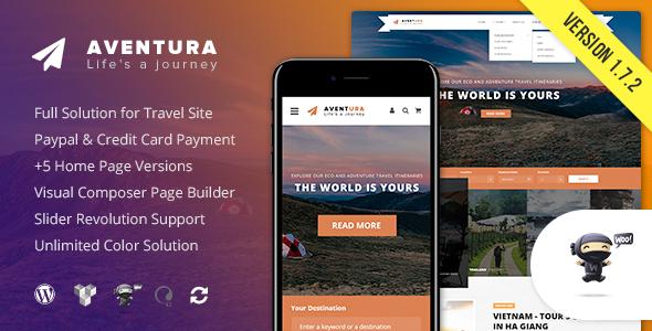 Image of Aventura - Travel & Tour Booking System WordPress Theme