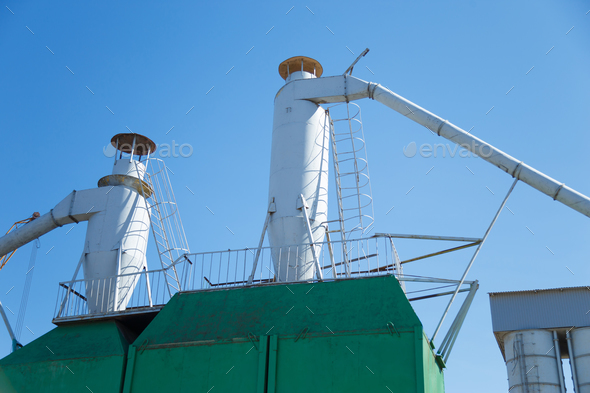 Dust purification cyclone air vortex separation separator - Stock Photo - Images