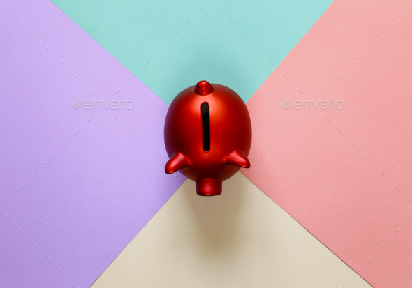 Red Piggy Bank - Stock Photo - Images