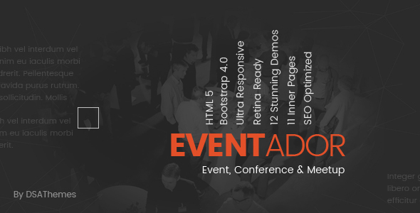 Image of Eventador - Premium Event, Conference & Meeting Landing Pages Pack