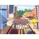 Street Pedestrians Vector Cartoon Illustration