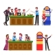 People with Cigarettes and Drinks at Casino Set - GraphicRiver Item for Sale