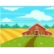 Farm House or Farmer Household Agriculture Scenery - GraphicRiver Item for Sale