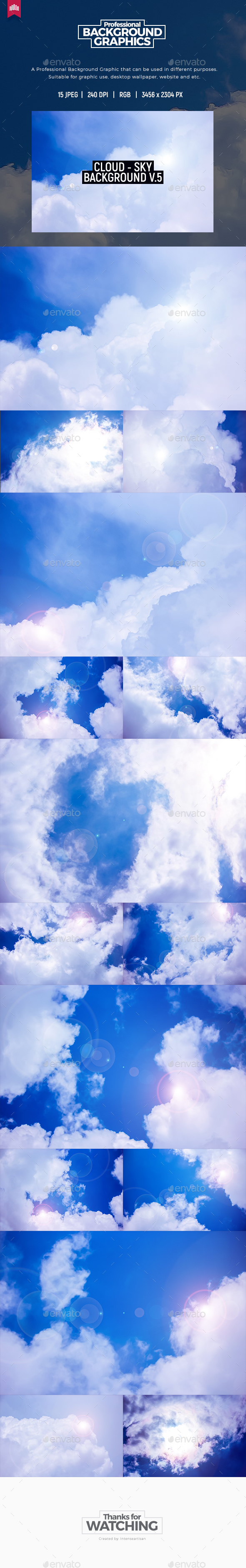Cloud - Sky Background V.5 - Nature Backgrounds