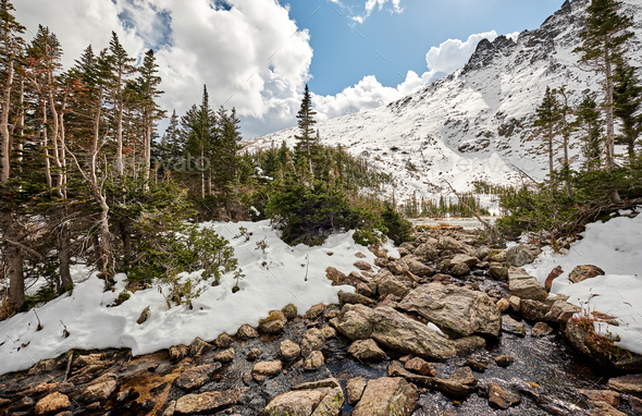Lake Helene, Rocky Mountains, Colorado, USA. - Stock Photo - Images